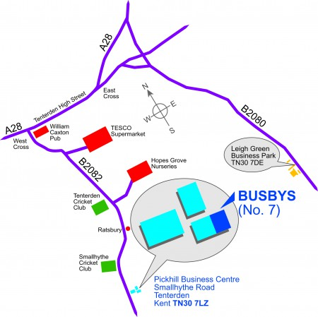 Map Find Busbys Chartered Accountants - Find-us-map